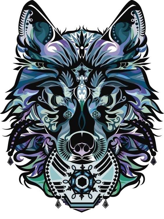 Snow Wolf - illustration, wolf, snow - outersaturn | ello