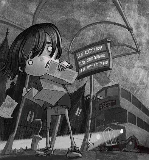 illustration, spooky, children'sillustration - andycatbug | ello