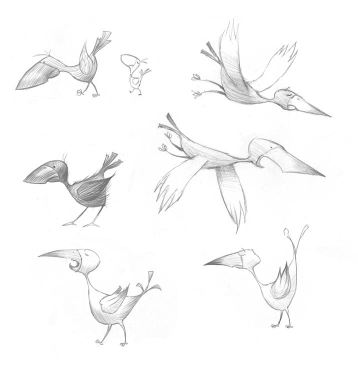 birds, illustration - andycatbug | ello