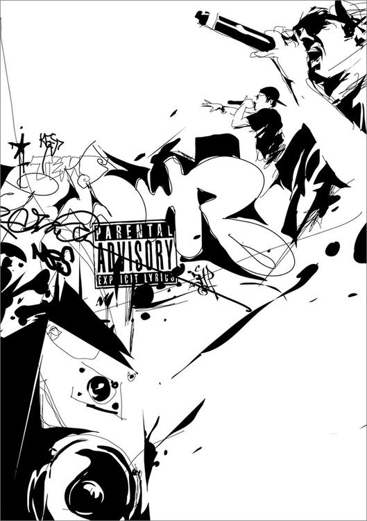 Rap - unpublished illustration  - sebj-4787   ello