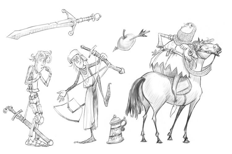 illustration, knights, characterdesign - andycatbug | ello