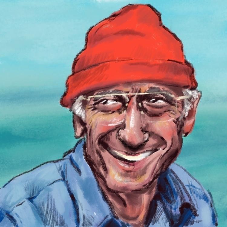 Jacques-Yves Cousteau - portrait - prianikn | ello