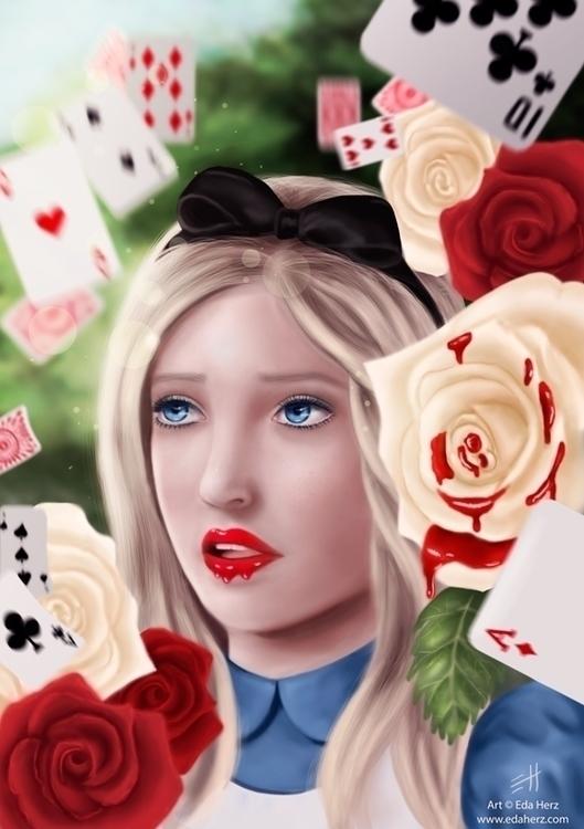 Alice Wonderland (2014 - illustration - edaherz | ello