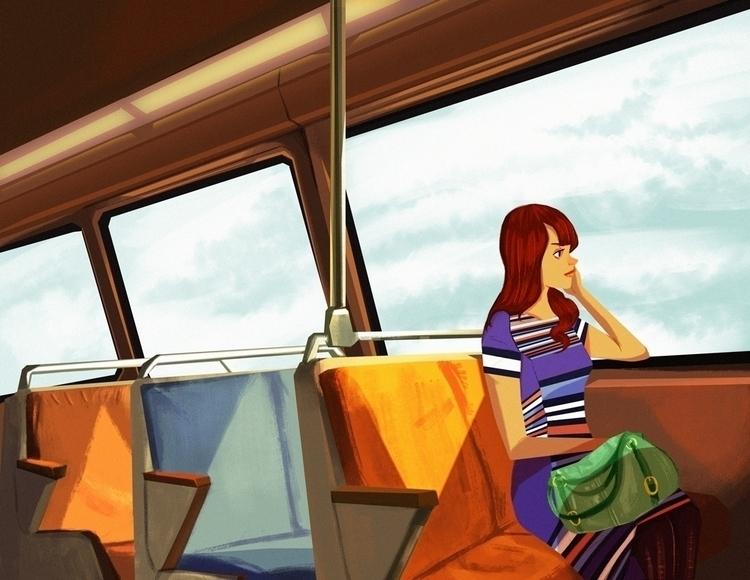 metro, environment, subway, colorstudy - artsypabster | ello