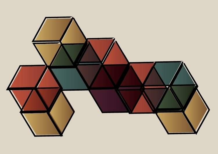 Cubism - illustration, color, cube - marcmolins93 | ello