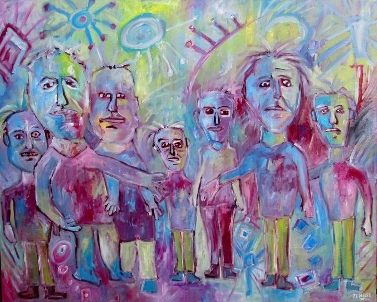 Oil canvas, sides continue work - pdingley | ello