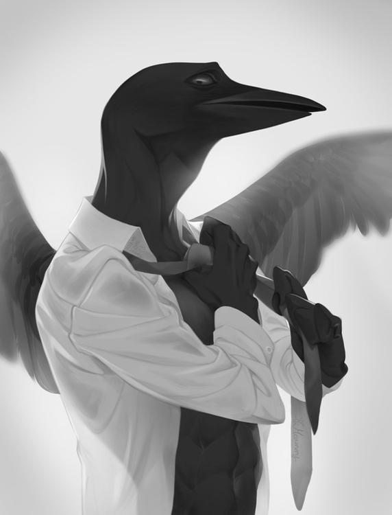 raven - illustration, digitalart - meammy | ello