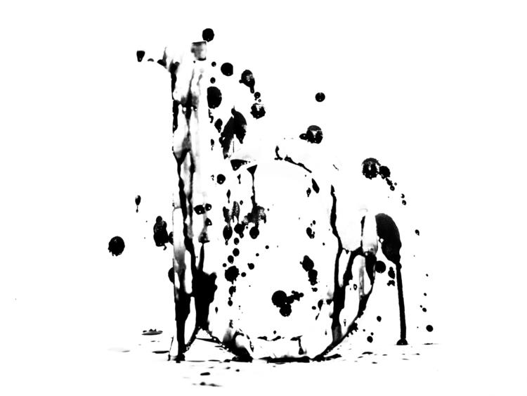 Letter Experiment - analog, ink - kirisartworks   ello