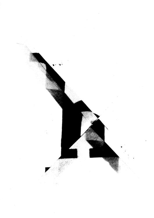 Letter Experiment - paper, typographic - kirisartworks   ello