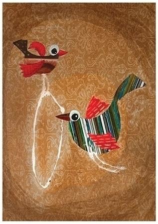 Collage artwork - collageart, birds - palahoyos | ello