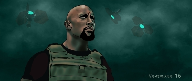 dwayne johnson jr - illustration - sunnyefemena | ello