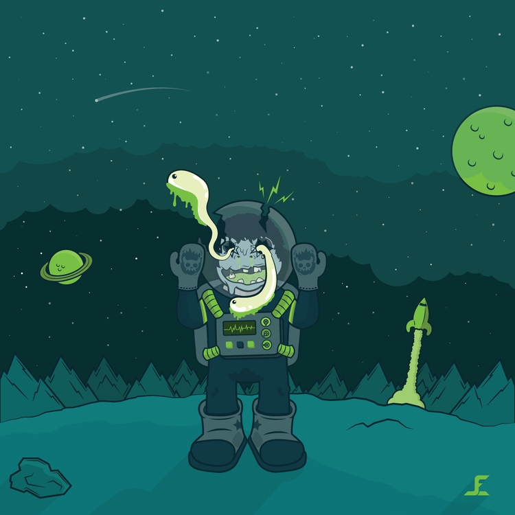 Astronaufrago - illustration, astronaut - joelechavarria | ello