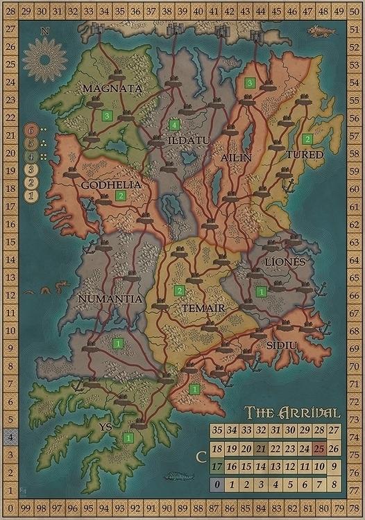 map board game Arrival', publis - robertaltbauer | ello