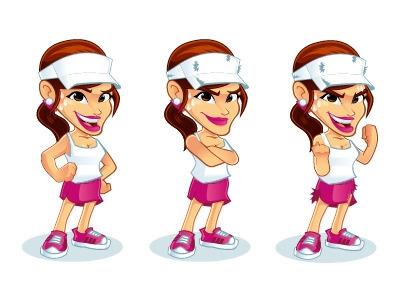 Sporty Girl Mascot - illustration - rockcodile | ello