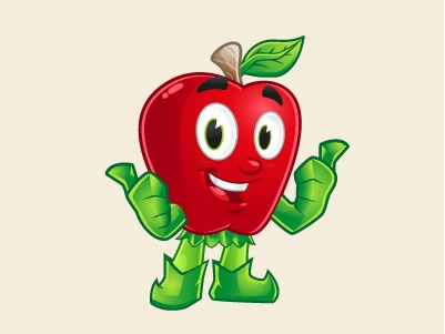 Apple Mascot - illustration, characterdesign - rockcodile | ello