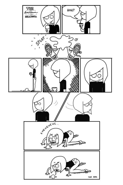 Icecream Dilemma - comic, awkward - bhahghyhah | ello