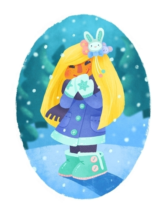 Winter - illustration, characterdesign - vanya-3409 | ello