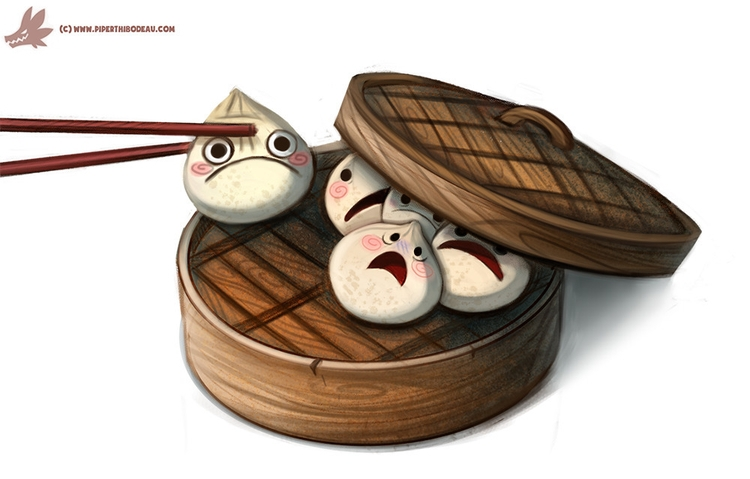 Daily Paint Sacrificial Dumplin - piperthibodeau | ello