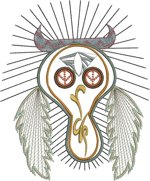 Desert Skull feather23 - skulls - esn-3951 | ello