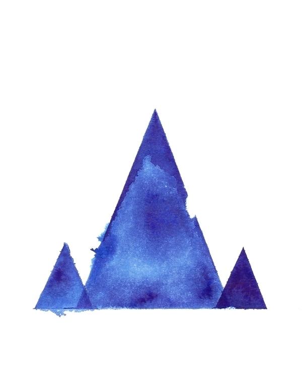 Mountains - mountains, blue, minimalist - caitiluke | ello