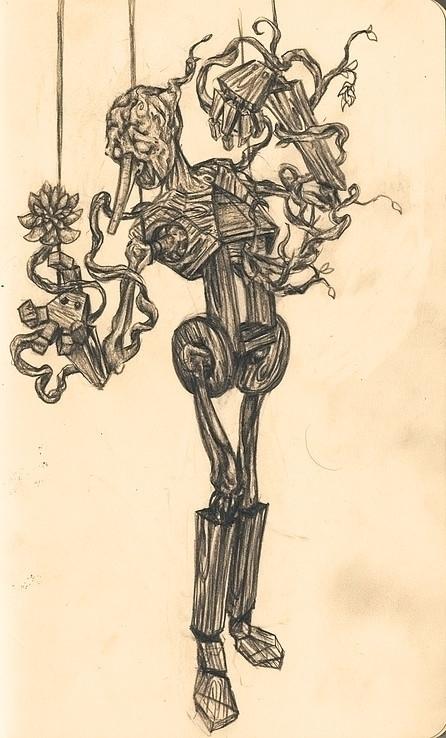 Puppet sketch - puppet, illustration - hotsprocket | ello