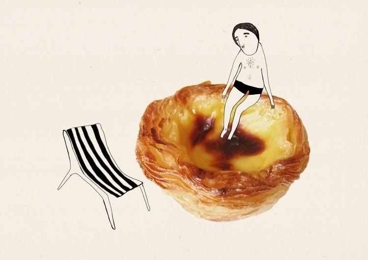 Taste Porto- Pastel de nata - illustration - msarte | ello