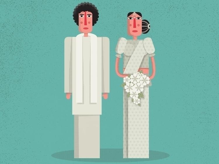 Wedding - characterdesign, couple - anusha-2394 | ello
