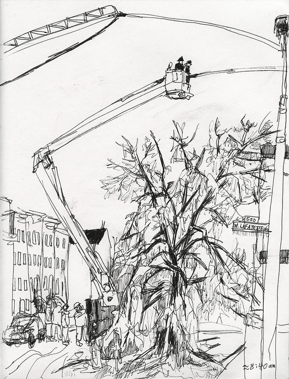 firefighting - 6, drawing, journalisticdrawing - ononlao | ello