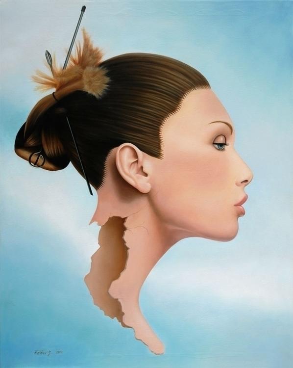 Elvira, oil / canvas, 110 90 cm - jozz-1181 | ello
