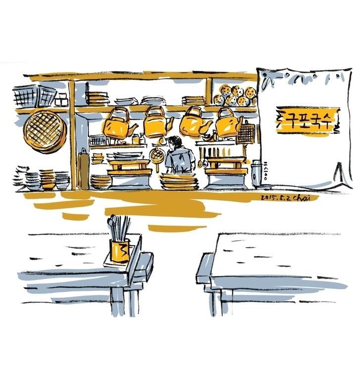 ???  - linedrawing, noodles, restaurant - choi_i | ello