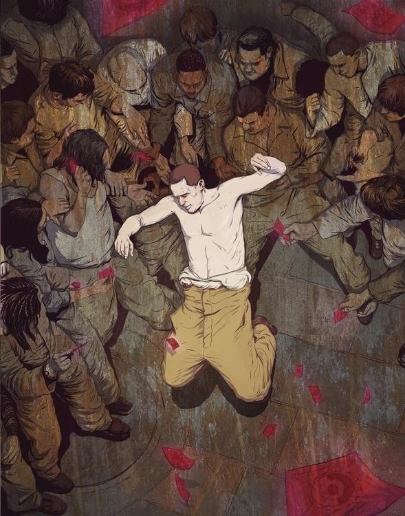 violence, dark, illustration - reeozerkos | ello