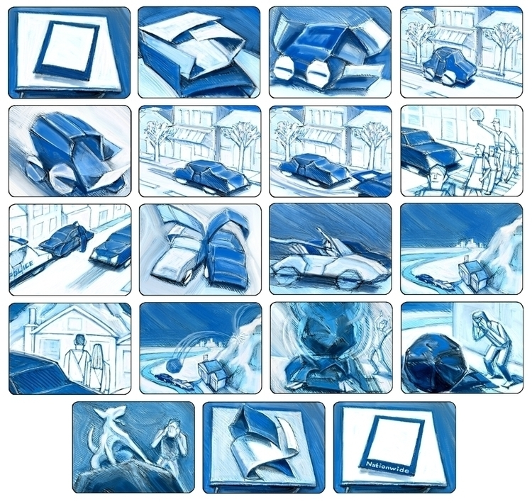 Nationwide Origami Board - storyboard - doritart | ello