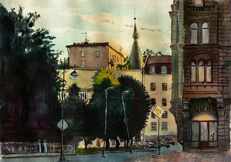 Vyborg, late evening sketch - naktisart | ello