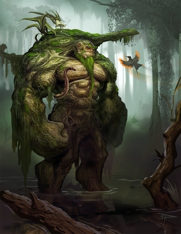 Swamp - swampthing, conceptart, monster - goregon | ello