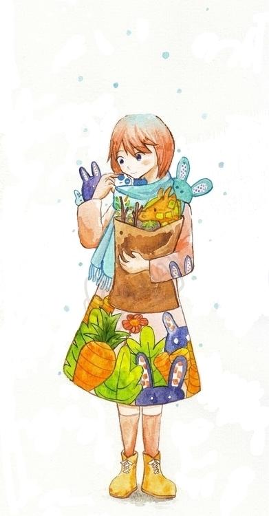 Shelter vegetable garden - illustration - resha04 | ello