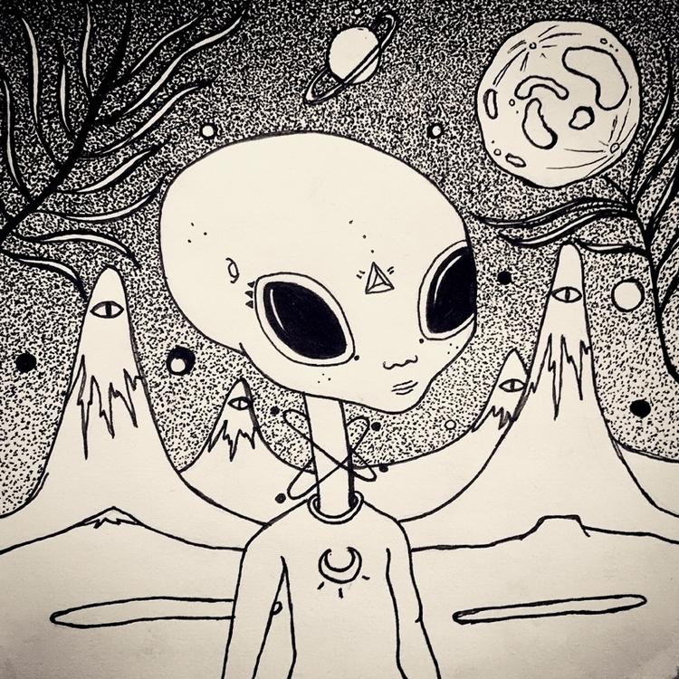 find - space, spaceart, aliens, soul - effy-1177 | ello