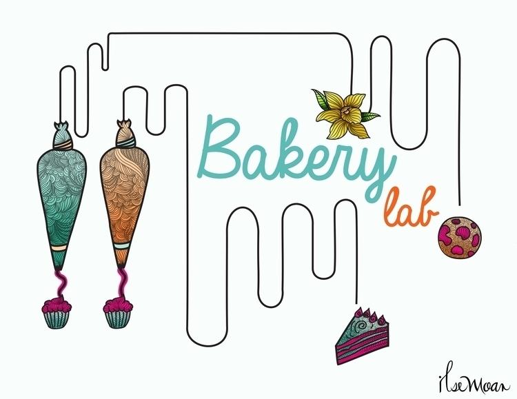BAKERY LAB LOGO - digitalart, digitalillustration - ilsemoar | ello