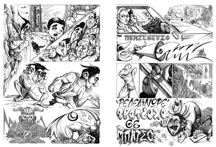 pages 4-5 - comic, bnw, ink, kaiman - kaiman-6057 | ello