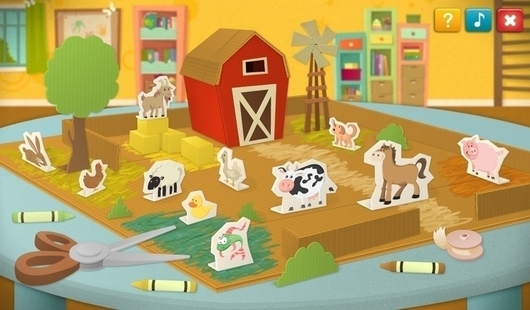 Paper farm - illustration, animals - vaclavbicha | ello