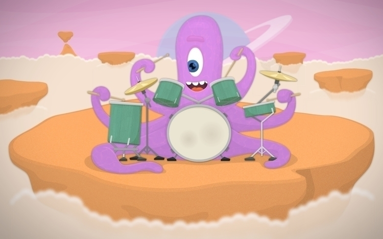 Alien drummer - illustration, alien - vaclavbicha | ello