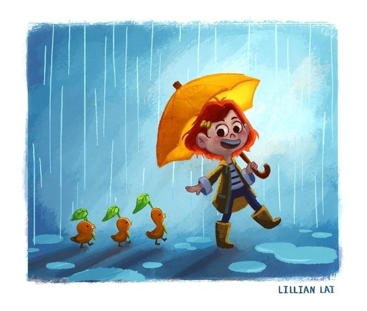 Rain rain rain~ - lillisketch | ello