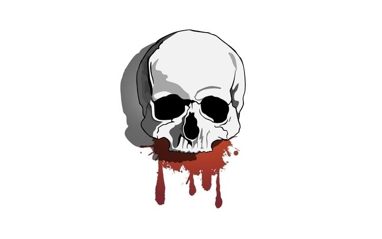 skull, drawing, digitalart, illustrator - valiente | ello