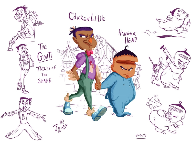 Character design inspired story - jowybeanstudios | ello