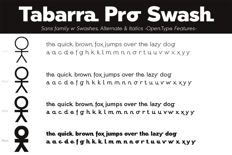 Tabarra Pro Swash - typography - defharo | ello