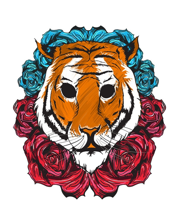 Tiger - tiger, illustration, painting - akash-1439 | ello