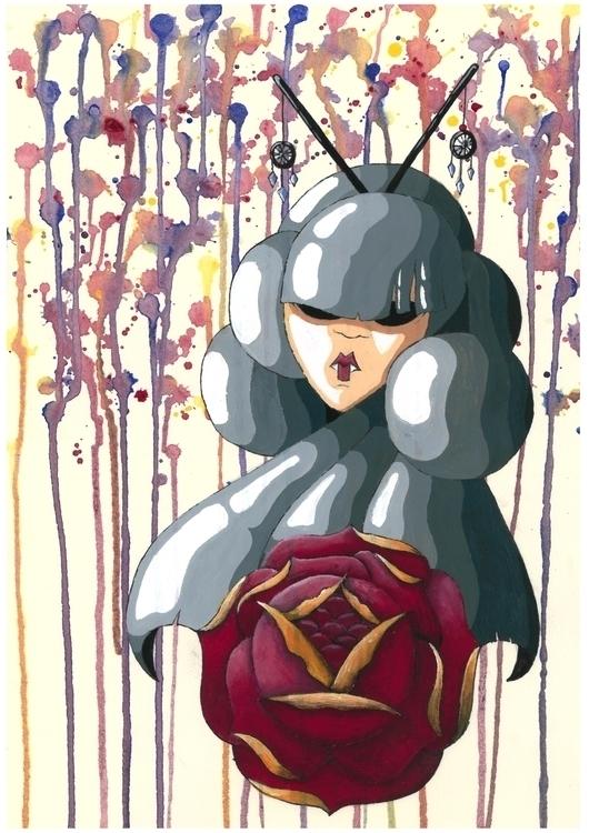 geisha - illustration, painting - ops17 | ello