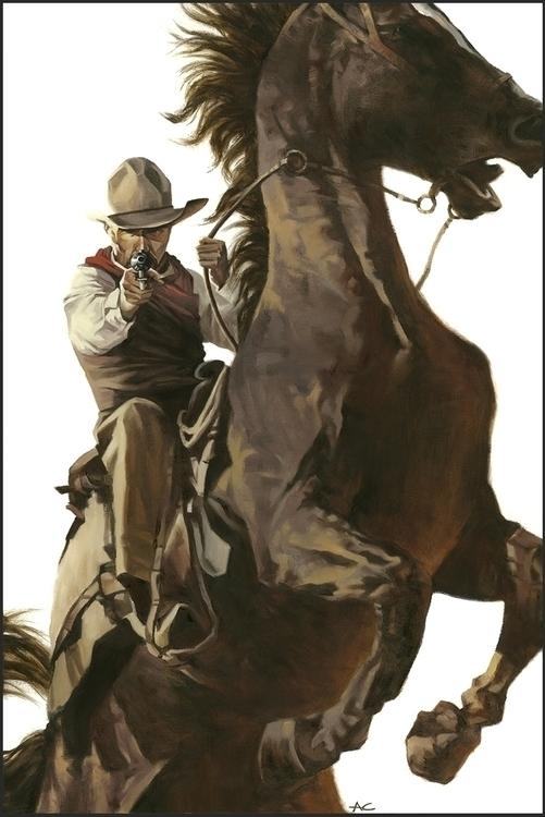 Gus - western, painting, illustration - andrewcherry | ello