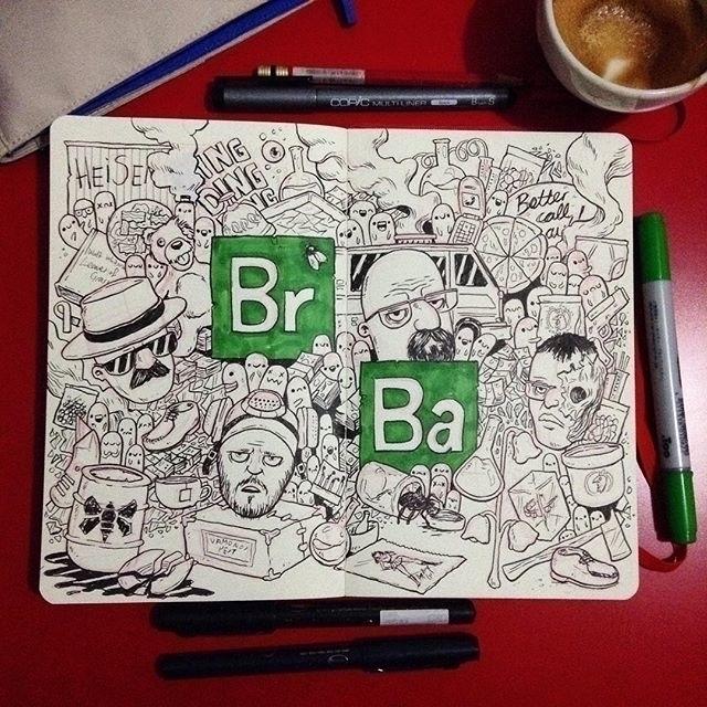 Breaking Bad doodle Moleskine S - salihgonenli | ello