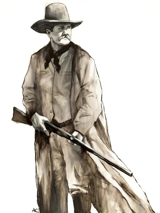 John Wesley - western, painting - andrewcherry | ello