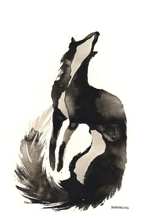 Ink Fox - ink, fox, illustration - myrntai | ello